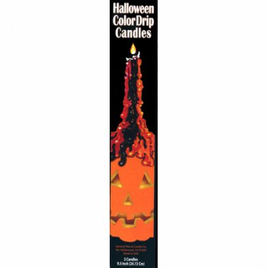 Halloween Color Drip Candles