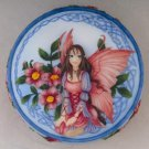 Celtic Rose Fairy Scene Round Jewelry/Trinket Box Figurine