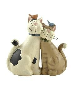 Cat Couple Figurine By Blossom Bucket