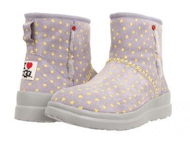 I Heart UGG Kisses Mini Boot Moonstone Hearts Suede (size 5)