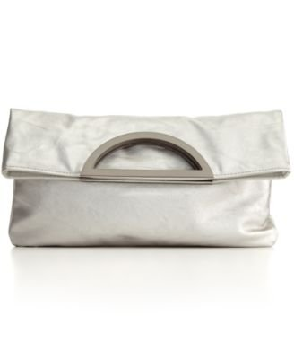 Style & Co. Foldover Clutch, White