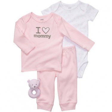 """Carter's """"I Love Mommy"""" Pink 4-Pc."""