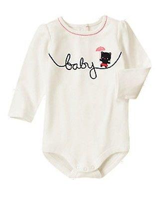 """Gymboree """"Baby"""" Long Sleeve Bodysuit (size 12-18M)"""