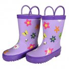 Foxfire for Kids Flower Rain Boots (size 1)