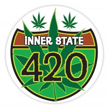 Custom Rasta Reggae Bob Marley Marijuana 420 Sticker