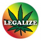 Rasta Reggae Bob Marley Legalize Marijuana Sticker Decal