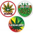 Unique Rasta Reggae Bob Marley Marijuana Sticker Combo