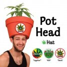 Easy Adult Costume Ideas - Punny Legalize Marijuana Pot Head Hat Combo w/Plant