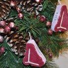 Unique Restaurant Promotion Ideas - Foam T-bone Steak Christmas Ornament
