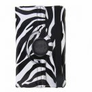 Cool Leather Case for iPad Mini with Zebra Pattern Protective 360 Degrees Rotary Cheap price