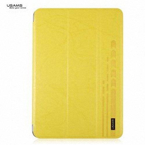 USAMS Popular Jane Series Durable Plastic + PU Leather Case for iPad Mini 2-Yellow