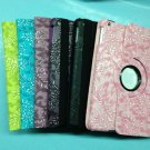 For iPad Air  Grape grain Leather Case for iPad Air with Rotatable stand 6 colors(iPad 5)