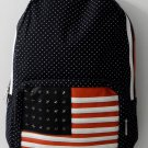Fashion Cutie Girl Leisure  Backpack School Bag in black US Flag Pattern