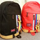 Rainbow zips Backpack in Red UK Flag Nation School Bag Travel Bag bookbag