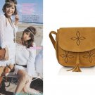 Faux suede Women Lady Shoulder Bag Messenger Handbag Crossbody brown Gypsy