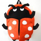 Lovely Red Beetle Backpack for Childen Kid (Faux Fur)