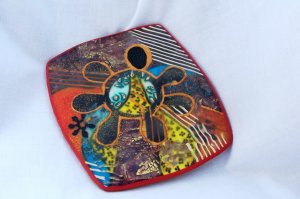 """""""King Sees All"""" wall hanging or tea light holder/soap dish"""