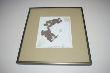 Gerald Nailor Native American Navajo Indian Artist Brown Bear Tewa Silk Screen Print 1951