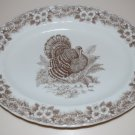 Queen's Thanksgiving Turkey Platter Serving Dish Plate Myott Factory Archive Illustration