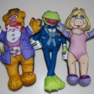 The Muppets by Blockbuster Kermit, Fozzie Bear & Miss Piggy Felt Dolls