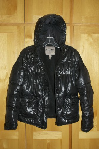Bitten by Sarah Jessica Parker Black Puffer Puffy Coat Jacket XS