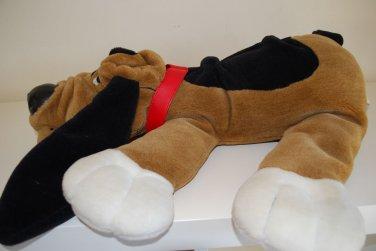"Large Brown Black & White Pound Puppy Stuffed Plush Dog 18"""