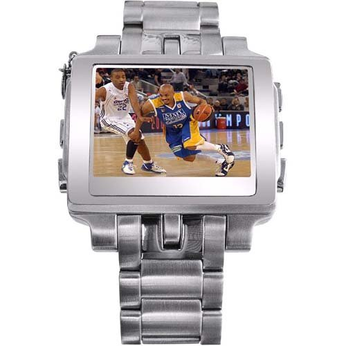 MP4 Steel Watch With FM Transmitter