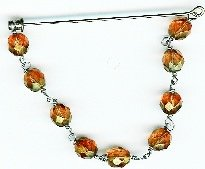 Cognac Glass bead pin