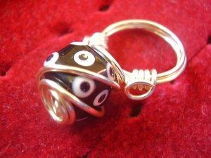 Black Polka Dot Ring
