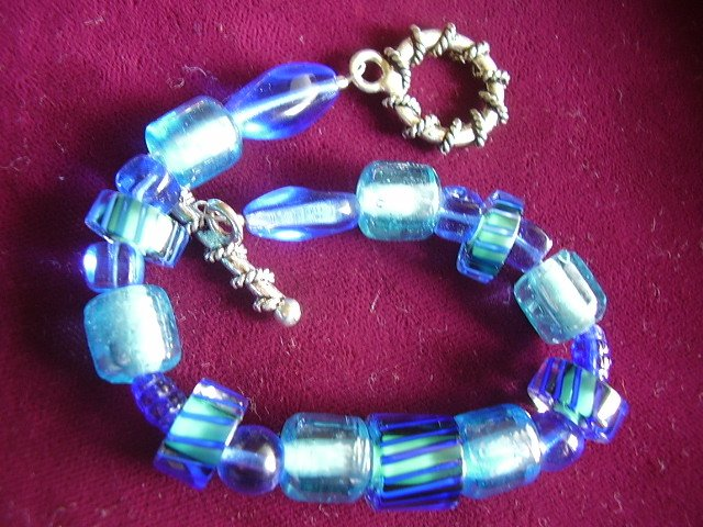 Turquoise and Cobalt Bracelet
