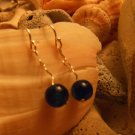 Blue Sterling Squiggle Earrings
