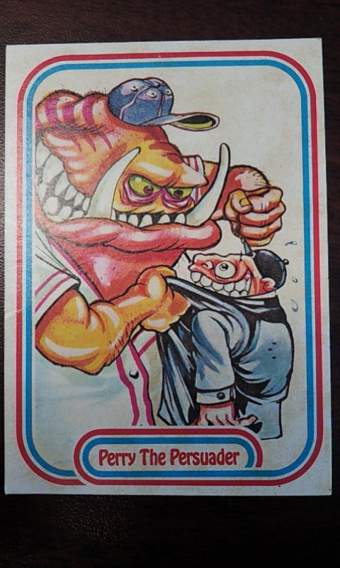 Perry The Persuader Baseball Sticker Card 99