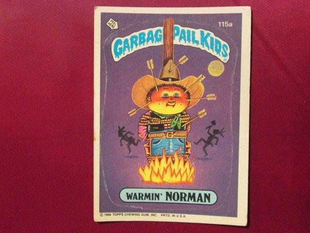 Garbage Pail Kids (Trading Card) 1986 Warmin Norman #115a