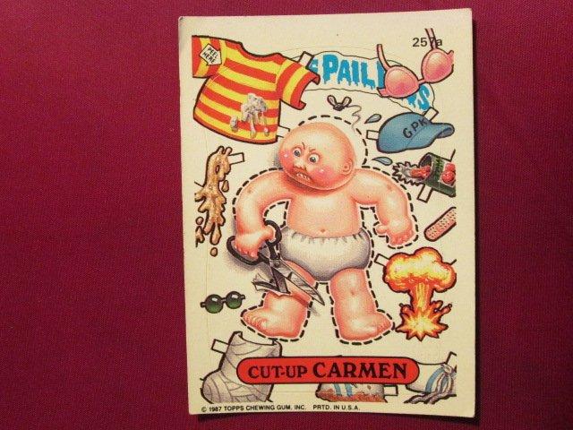 Garbage Pail Kids (Trading Card) 1986 Cut-Up Carmen #257a