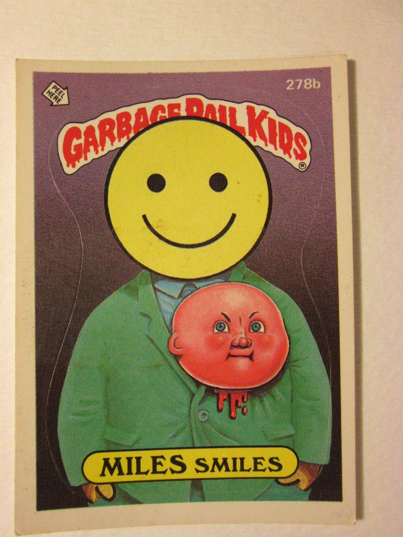 Garbage Pail Kids (Trading Card) 1986 Miles Smiles #278b