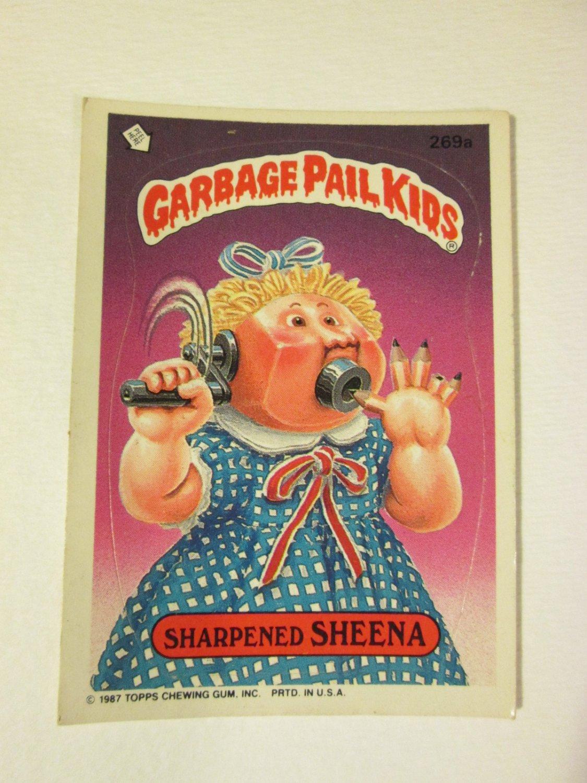 Garbage Pail Kids (Trading Card) 1986 Sharpened Sheena#269a