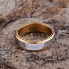 18k gold plated Forever Love unisex Engagement Ring Size 9