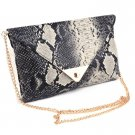 Synthetic Leather Shake Skin clutch Clutches Purse Evening Bag