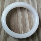 Genuine Natural Chinese White Lucky Jade Bangle Bracelet Size 60mm