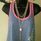 Pearls Chain Bib Choker Statement Necklace
