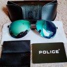Police Polarized Blue Black Pilot Italy Unisex Anti UV Protection Driving Sunglasses
