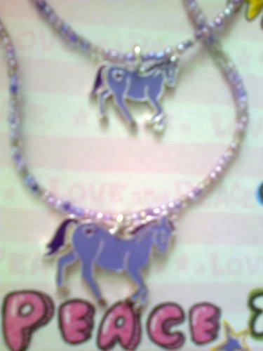 Horse necklace and bracelet set