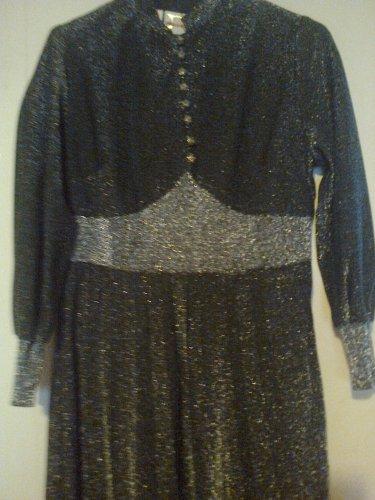 1960s lurex evening gown