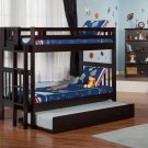 Cascade Twin over Twin Bunk Bed with Trundle by Atlantic