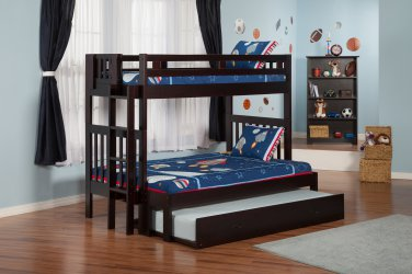 Cascade Twin over Full Bunk Bed with Trundle by Atlantic