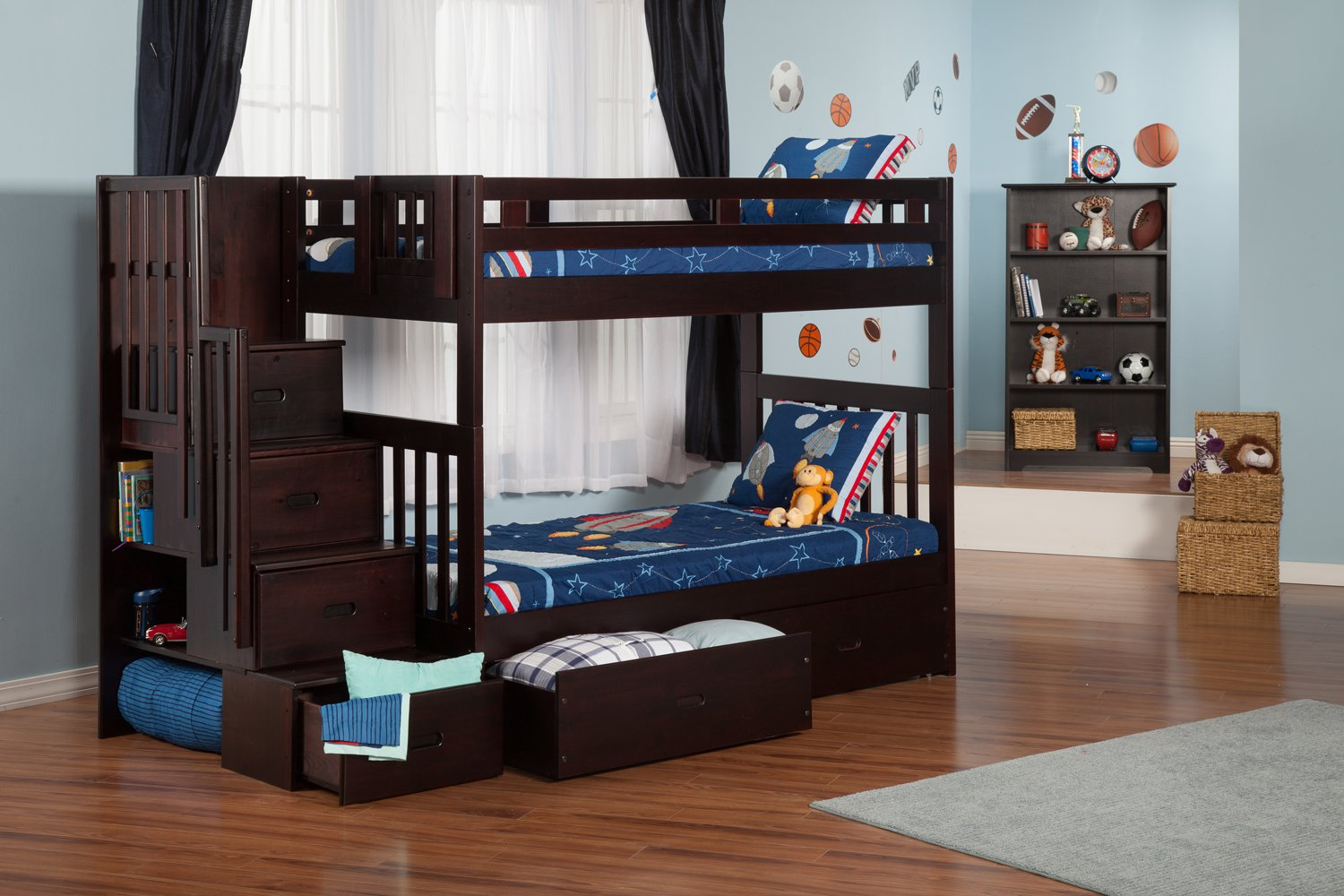 storage for a small bedroom cascade staircase bunk bed with drawers by 19909