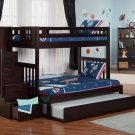 Cascade Twin over Full Staircase Bunk Bed with Trundle by Atlantic