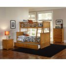 Nantucket Twin over Full Bunk Bed with Raised Panel Trundle in Caramel Latte by Atlantic