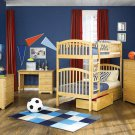 Richmond Twin over Twin Natural Maple Bunk Bed with Flat Panel Drawers by Atlantic
