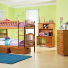 Richmond Twin over Twin Caramel Latte Bunk Bed with Flat Panel Drawers by Atlantic